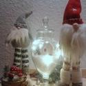 Skandináv manók, Dekoráció, Ünnepi dekoráció, Karácsonyi, adventi apróságok, Karácsonyi dekoráció, Varrás, A testét frízzel töltöttem ki a sapkája puha polár anyagból csináltam . A nadrágjuk kézzel horgolta..., Meska
