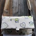 2 az 1-ben baglyos textil táska