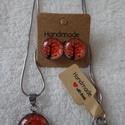 Életfa ékszerszett narancs, Ékszer, Ékszerszett, Gyönyörű életfa motívumos ékszerszett, mely tartalmaz egy 1,2cm átmérőjű bedugós fülbeva..., Meska