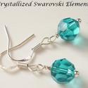 Swarovski kristály fülbevaló -8mm-es gömb  több színben , Ékszer, Fülbevaló, Swarovski kristály   8 mm-es gömb fülbevaló több színben ezüstözött kapoccsal.  A méretek ..., Meska
