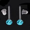 Swarovski köves szilikon fülbevaló több színben SFSZ-SW01, Ékszer, Fülbevaló, Swarovski kristályból és szilikon fülbevalóalapból készült fülbevaló több színben, szili..., Meska