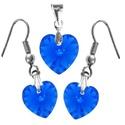 Swarovski kristály 10-14 mm-es AB bevonatos szív szett több színben, Ékszer, Szerelmeseknek, Swarovski kristály  10-14 mm-es AB bevonatos szív alakú   fülbevaló és medál több színben  ..., Meska
