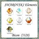 Ékszerkellék: Swarovski bicon 6mm-es AB bevonatos   6db/cs több színben SWGY5328-6AB, SWGY5328-6AB Eredeti swarovski kristály AB bevona...