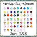 Ékszerkellék: Swarovski bicon több színben 4mm  SWGY5328-4  24db/csomag, *SWGY5328-4 Eredeti swarovski kristály bicon töb...