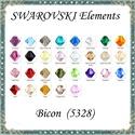 Ékszerkellék: Swarovski bicon 5mm 10db/cs több színben  SWGY5328-5, SWGY5328-5 Eredeti swarovski kristály bicon több...