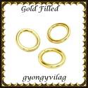 925-ös ezüst karika ESZK NY gold filled 6x0,8, Két rétegű, 24 karátos arany bevonattal ellát...