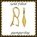 925-ös sterling ezüst ékszerkellék: medáltartó, medálkapocs EMK 78 g Gold Filled,  *EMK 78g  Két rétegű, 24 karátos arany bevona...