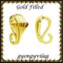 925-ös sterling ezüst ékszerkellék: medáltartó, medálkapocs EMK 104 g Gold Filled,  *EMK 104g  14K arannyal bevont (gold filled) 925-...