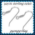 925-ös sterling ezüst ékszerkellék: fülbevalóalap akasztós EFK A 09-2, *EFK A 09-2 --- 925-ös fémjellel ellátott való...