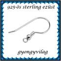 925-ös sterling ezüst ékszerkellék: fülbevalóalap akasztós EFK A 10-3, *EFK A 10-3 --- 925-ös fémjellel ellátott való...