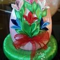 Tavaszi virágcsokor, Dekoráció, Dísz, Ünnepi dekoráció, Húsvéti díszek, Mindenmás, Szerettem volna készíteni egy olyan Húsvéti tojást, melyen a tavasz is megjelenik. A tavasz az egyi..., Meska