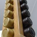 Tchibo Kávékapszula-tartó (tölgy oszlop), Konyhafelszerelés, Otthon, lakberendezés, Tárolóeszköz, Tömör fából készült Tchibo kapszulatartó, mely a konyhád méltó dísze lehet  Tulajdonságai: - tölgy f..., Meska
