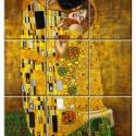 Klimt Csempe mozaikkép, Dekoráció, Képzőművészet, Konyhafelszerelés, Kép, Kerámia, Gustav Klimt (Bécs-Baumgarten, 1862. július 14. ? Bécs-Neubau, 1918. február 6.) osztrák festőművés..., Meska
