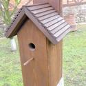 """""""B"""" típusú madárodú -italtartóval :), Állatfelszerelések, Dekoráció, Férfiaknak, Sör, bor, pálinka, Famegmunkálás, Madárbarátoknak rendszeres odúellenőrzéshez, a házi pálinkó-madár megfigyeléséhez ajánlom   Napi mi..., Meska"""