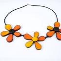 Narancs 3 virág nyaklánc