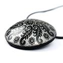 Fekete-ezüst félgömb medálos nyaklánc AKCIÓ!