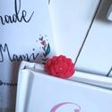 Rózsa könyvjelző Swarovskival, Naptár, képeslap, album, Mindenmás, Baba-mama-gyerek, Könyvjelző, Rózsás könyvjelző a romantikusoknak, pici Swarovskival a közepén, tökéletes ajándék minden korosztál..., Meska