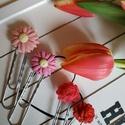 Virágos könyvjelző szett, Naptár, képeslap, album, Mindenmás, Baba-mama-gyerek, Könyvjelző, 4 db-os könyvjelző szett, 2 db rózsás Swarovskival, 2 db virágos, más színűek is kérhetők!  Méret: v..., Meska