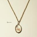 -50%! FELE ÁRON! Romantikus pillangós-rózsás nyaklánc 2. - régies,vintage jellegű, -50%! FELE ÁRON!  1.8 x 2.5 cm-es üveglencsés, ...