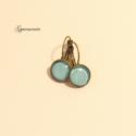 Szimpla kollekció - Menta - bronz alapú, vintage jellegű kapcsos fülbevaló, Egyszerű és nagyszerű - ez a 2013-as tavasz egy...