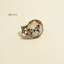 Tavaszi türkiz pillangó - bronz alapú, vintage jellegű gyűrű, Egyszerű és nagyszerű - ez a 2013-as tavasz egy...