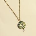 Gyöngyvirág - nyaklánc, vintage jellegű, bronz alapon, A Tavasz szerelmeseinek készült ez a csodaszép ...