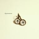 Pitypang - vintage jellegű kapcsos fülbevaló, bronz alapon, Őszi ékszereim egyik motívuma a pitypang, az el...