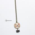 Mosolyogj!  - fényképezős vintage lánc, Bronz alapon készült ez a lánc, 48 cm-es lánch...