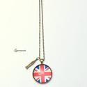 London nyaklánc, Vintage jellegű üveglencsés nyakláncot készí...