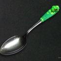 Zöld békás evőeszköz /1 db-os/, Saját tervezés alapján készítettem el ezt a b...