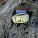 Név gyűrű, Ékszer, Gyűrű, Famegmunkálás, A megadott névvel beleégetve elkészítem a gyűrűt, pároknak, szerettének akár ajándékba is.  Asztalo..., Meska