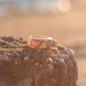 Szíves gyűrű névvel  / hölgy választottjának /, Ékszer, Gyűrű, Famegmunkálás, Lepje meg kedvesét ezzel a szíves gyűrűvel, rajta az ön nevével.  A szív külön esztergált, kitüremk..., Meska
