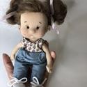 Sophie, Játék & Gyerek, Baba & babaház, Baba, Baba-és bábkészítés, Nemezelés, A baba kb. 21 cm magas, teste pamutból, haja racka juh gyapjából készült. Pofija, pocakja, és popój..., Meska