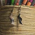 """Origami hajó fülbevaló, Ékszer, Fülbevaló, Egyedi, kézzel összerakott, origami hajós fülbevaló műanyag """"stopperrel"""" a hátulján Mérete:..., Meska"""