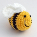horgolt méhecskék, 2 db horgolt méhecske Dunci megrendelésére (500...