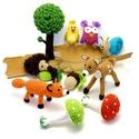 Erdei állatok - babaforgó, horgolt gyerekszoba dekoráció, Megrendelhető!  Színes, kedves, ágy fölé akas...
