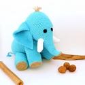 horgolt elefánt, Türkizkék (vagy kérésre bármilyen színű) fo...