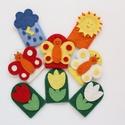 """""""A három pillangó"""" - 8 db-os filc ujjbáb készlet, Gyerek & játék, Játék, Báb, Készségfejlesztő játék, Gyerekszoba, """"A három pillangó"""" - 8 db-os ujjbáb készlet, kiváló minőségű gyapjúfilcből.  Minőségi gyapjúfilc any..., Meska"""