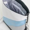 Kék óceán oldaltáska, Táska, Válltáska, oldaltáska, Tarisznya, Varrás, Nyári hangulatot idéző színekkel készült textilbőr táska, melyet csinos kiegészítőként bárhová maga..., Meska