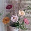 5 db Színes Gerbera Kerámia Virág (tp.11), Dekoráció, Otthon, lakberendezés, Húsvéti apróságok, Kaspó, virágtartó, váza, korsó, cserép, Kerámia, Virágkötés, Szedj egy csokrot a virágos kertemből!Állítsd össze a saját csokrod! Tedd kosárba valamelyik összeá..., Meska