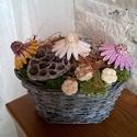 Kerámia Kasvirágból   Készült Asztaldísz, Otthon, lakberendezés, Kaspó, virágtartó, váza, korsó, cserép, Kerámia, Virágkötés,  Legyen  feladat az asztal dekorálása  vagy éppen egy névnapi köszöntés ez a kis kompozíció bármely..., Meska