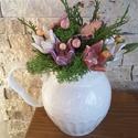 """,KerámiaTulipános """"Asztaldísz, Otthon, lakberendezés, Kaspó, virágtartó, váza, korsó, cserép, Kerámia, Virágkötés, Igazi kis romantikus ,szívet,lelket gyönyörködtető örök csokor! Legyen  feladat az asztal dekorálás..., Meska"""