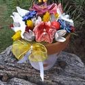 """,Madaras Tulipános """" Kerámia Virágos Asztaldísz, Otthon, lakberendezés, Kaspó, virágtartó, váza, korsó, cserép, Kerámia, Virágkötés,  Legyen  feladat az asztal dekorálása  vagy éppen egy névnapi köszöntés ez a kis kompozíció bármely..., Meska"""