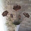 3 db Nagy  Natúr  Kerámia Virág Levéllel (tp-33), Otthon, lakberendezés, Dekoráció, Kaspó, virágtartó, váza, korsó, cserép, Kerti dísz, Kerámia, Virágkötés,  Szedj egy  csokrot  a virágos kertemből!  Egész évben üde színfoltja lehet otthonodnak.A csokrot k..., Meska