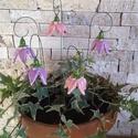 5db Kis Rózsaszín-Lila Kerámia Harangvirág (tp.4), Esküvő, Otthon, lakberendezés, Dekoráció, Esküvői dekoráció, Kerámia, Virágkötés, Szedj egy csokrot a virágos kertemből!Állítsd össze a saját csokrod! Tedd kosárba valamelyik összeá..., Meska