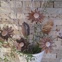 5 db Natúr Agyag Virág 2 Levéllel Tp. 48, Dekoráció, Otthon, lakberendezés, Húsvéti apróságok, Kaspó, virágtartó, váza, korsó, cserép, Kerámia, Virágkötés, Szedj egy csokrot a virágos kertemből!Állítsd össze a saját csokrod! Tedd kosárba valamelyik összeá..., Meska