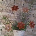 5 db Halvány Pasztel Színű Kerámia Virág (tp.32), Otthon, lakberendezés, Dekoráció, Kaspó, virágtartó, váza, korsó, cserép, Kerti dísz, Kerámia, Virágkötés,  Szedj egy  csokrot  a virágos kertemből! A termékmegnevezés melletti kódot és darabszámot kell meg..., Meska
