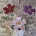 3 db nagy  Színes Mázas Kerámia Virágok (tp.19), Otthon, lakberendezés, Dekoráció, Kerti dísz, Kaspó, virágtartó, váza, korsó, cserép, Kerámia, Virágkötés, Szedj egy csokrot a virágos kertemből!Állítsd össze a saját csokrod! Tedd kosárba valamelyik összeá..., Meska