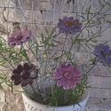 5 db  Lila Árnyalatú Mázas Kerámia Virág (tp.8), Dekoráció, Otthon, lakberendezés, Kaspó, virágtartó, váza, korsó, cserép, Kerti dísz, Kerámia, Virágkötés,  Szedj egy csokrot a virágos kertemből! Állítsd össze a saját csokrod! Tedd kosárba valamelyik össz..., Meska