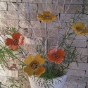5db 4 szírmú Sárga  Árnyalatú Kerámia Virág(tp.9), Otthon, lakberendezés, Kerti dísz, Kaspó, virágtartó, váza, korsó, cserép, Kerámia, Virágkötés, Szedj egy csokrot a virágos kertemből!Állítsd össze saját csokrod! Tedd kosárba valamelyik összeáll..., Meska